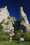 Kontrolltürme des Devin Schlosses stockbilder