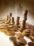 Kontrolltürme des Geldes Stockfoto