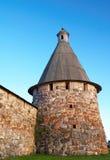 Kontrolltürme des Solovetsky Klosters Lizenzfreies Stockfoto