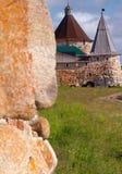 Kontrolltürme des Solovetsky Klosters Stockfoto