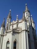 Kontrolltürme einer gotischen Kapelle Lizenzfreies Stockfoto