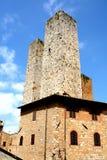 Kontrolltürme San-Gimignano taly Stockbild
