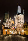 Kontrolltürme von Mala Strana, auf Charles-Brücke, Prag Lizenzfreies Stockfoto