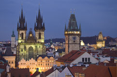Kontrolltürme von Prag Stockbilder