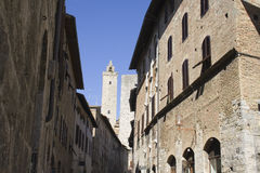 Kontrolltürme von San Gimignano Stockfotografie