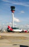 Kontrolltorn, Heathrow flygplats, London Arkivfoto