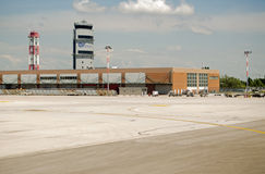 Kontrolltorn, Marco Polo Airport, Venedig Arkivfoto