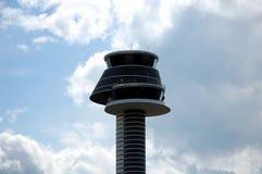 Kontrolltorn på den Arlanda flygplatsen Fotografering för Bildbyråer