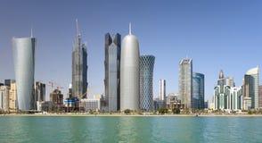 Kontrolltürme in Doha, Qatar Stockfotos