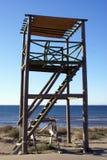 Kontrollturm auf dem Strand Lizenzfreie Stockfotos