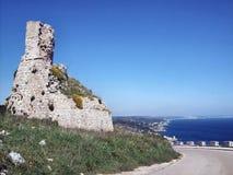 Kontrollturm auf der Küste Stockbilder