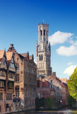 Kontrollturm Belfort in Brügge lizenzfreies stockbild
