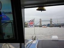 Kontrollturm-Brücke London lizenzfreies stockbild
