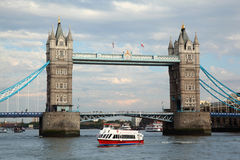 Kontrollturm-Brücke in London. lizenzfreies stockfoto