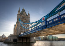 Kontrollturm-Brücke, London Stockbild