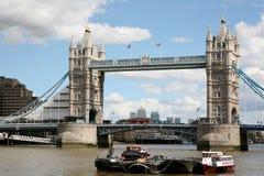 Kontrollturm-Brücke, London stockfotos