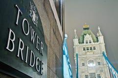 Kontrollturm-Brücke in London, England Lizenzfreies Stockbild