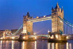 Kontrollturm-Brücke, London, Großbritannien Lizenzfreies Stockfoto