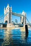 Kontrollturm-Brücke, London, Großbritannien Stockbilder
