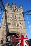 Kontrollturm-Brücke, London, Großbritannien Stockfotografie