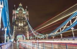 Kontrollturm-Brücke in London, Großbritannien Lizenzfreies Stockfoto