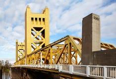 Kontrollturm-Brücke, Sacramento Stockbild