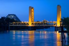 Kontrollturm-Brücke in Sacramento Lizenzfreie Stockfotografie