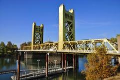 Kontrollturm-Brücke, Sacramento Lizenzfreies Stockbild