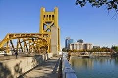 Kontrollturm-Brücke, Sacramento Stockbilder