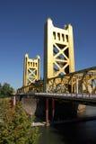 Kontrollturm-Brücke in Sacramento, Kalifornien lizenzfreie stockfotografie