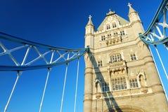 Kontrollturm-Brücke in der London-Stadt Stockfotografie