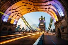 Kontrollturm-Brücke in London, England Lizenzfreies Stockfoto