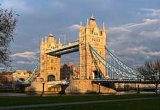 Kontrollturm-Brücke, London, England, Großbritannien, Europa, Winter Lizenzfreies Stockbild