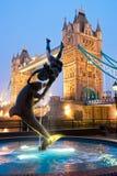 Kontrollturm-Brücke, London, Großbritannien Lizenzfreies Stockbild