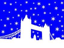 Kontrollturm-Brücke London im Winter Stockfotografie