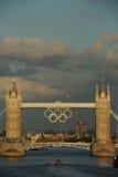 Kontrollturm-Brücke, London während der 2012 Olympics Stockbilder