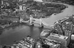 Kontrollturm Bridge1 Stadt von London-Panorama im Sonnenuntergang Lizenzfreie Stockbilder