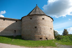 Kontrollturm der alten Festung Lizenzfreie Stockfotografie