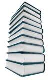 Kontrollturm der Bücher getrennt auf weißem Hintergrund Stockfoto