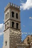 Kontrollturm der Basilika in Assisi Lizenzfreies Stockfoto