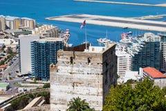 Kontrollturm der Ehrerbietung in Gibraltar Stockfoto