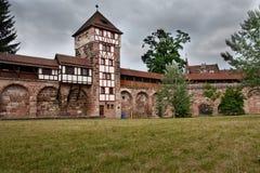 Kontrollturm in der Nürnberg-Wand Lizenzfreies Stockbild