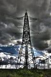 Kontrollturm der Stromleitungen Lizenzfreie Stockbilder