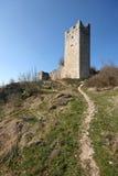 Kontrollturm der verlassenen mittelalterlichen Stadt Dvigrad lizenzfreie stockfotografie