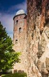Kontrollturm des alten Schlosses Stockbilder