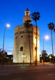 Kontrollturm des Goldes, Sevilla, Spanien. Lizenzfreies Stockfoto