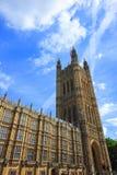 Kontrollturm des Hauses des Parlaments, London Stockbild