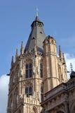 Kontrollturm des historischen Rathauses von Köln Stockfoto