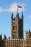 Kontrollturm des Palastes von Westminster Stockfotos