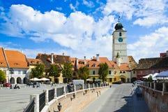 Kontrollturm des Rates in Sibiu Stockbilder